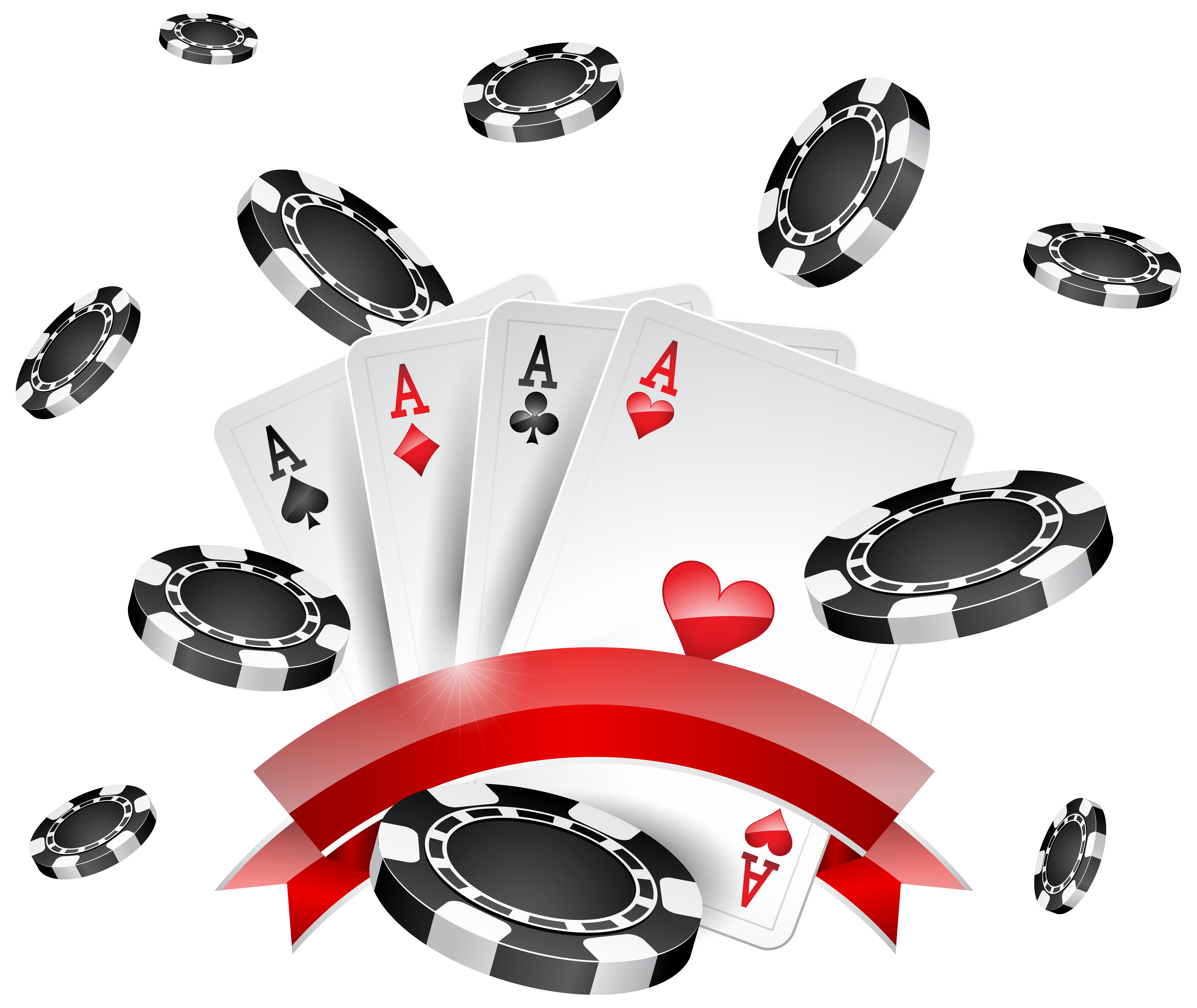 Money raining clipart royalty free stock Casino Chips and Cards Decoration PNG Clip Art - Best WEB Clipart royalty free stock