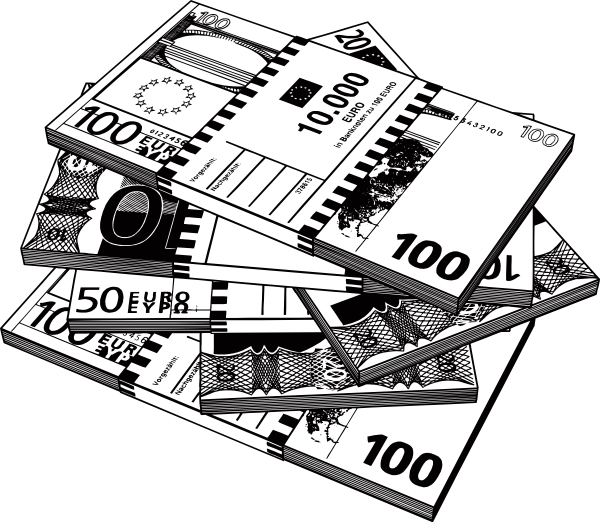 Money stacks clipart black and white image black and white download Money Clip Art at Clker.com - vector clip art online, royalty free ... image black and white download