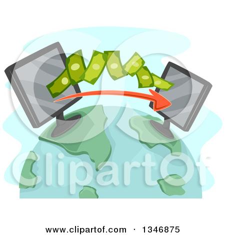 Money transfer clipart clip library stock Royalty-Free (RF) Money Transfer Clipart, Illustrations, Vector ... clip library stock