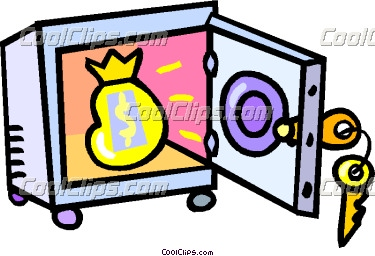 Money vault clipart jpg download vault with a bag of money Vector Clip art jpg download