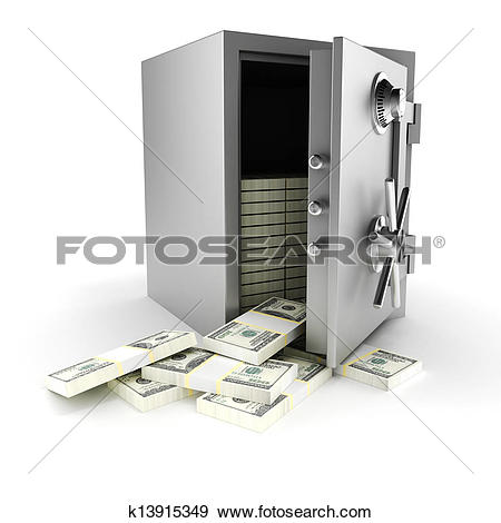 Money vault clipart clip art transparent stock Stock Illustration of 3d vault with money inside, on white ... clip art transparent stock