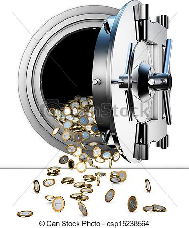 Money vault clipart picture free Stock Illustrations of bank vault - 3D rendering of a bank vault ... picture free