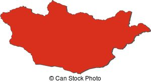 Mongolia map clipart vector freeuse download Black mongolia map. Map of administrative divisions of mongolia. vector freeuse download