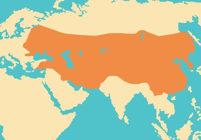 Mongolia map clipart clip art library stock Mongol Empire Map Vector - Download Free Vectors, Clipart ... clip art library stock