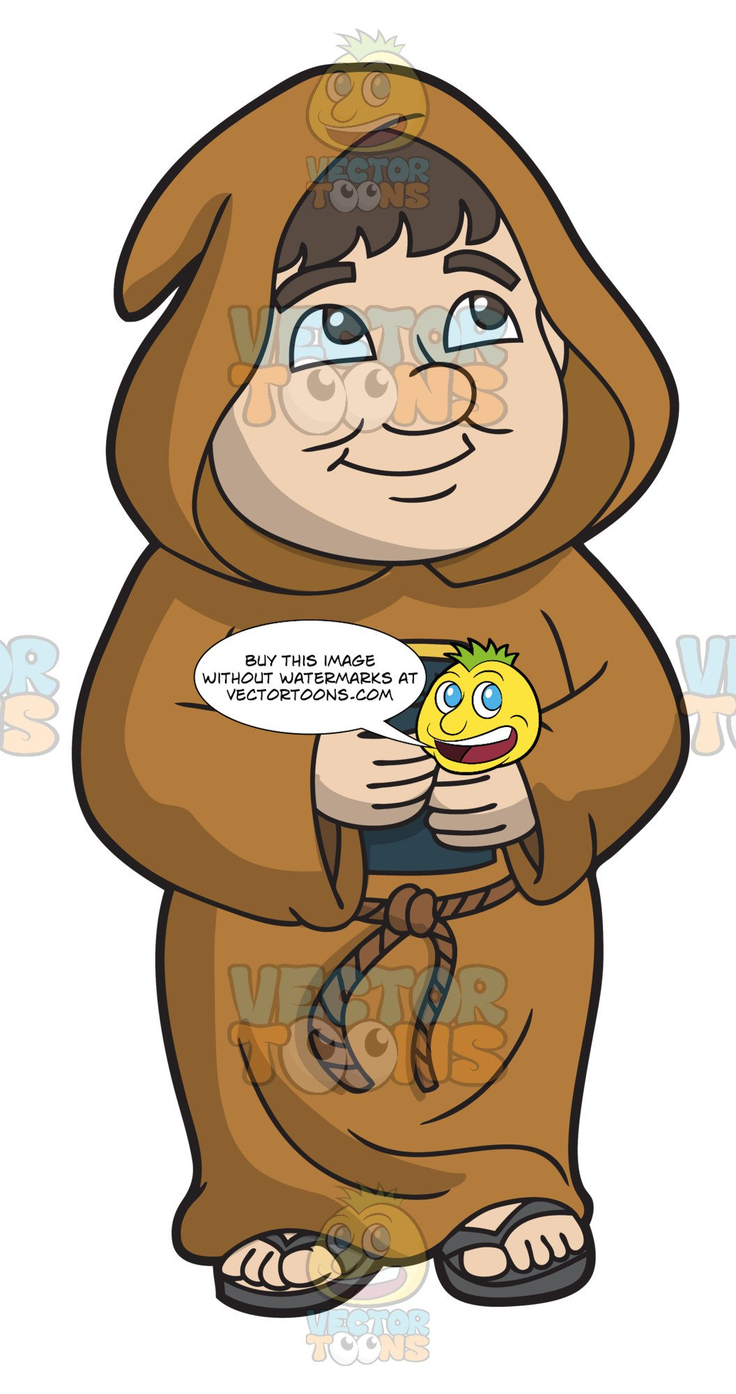 Monk clipart graphic library library A Hopeful Chubby Monk graphic library library