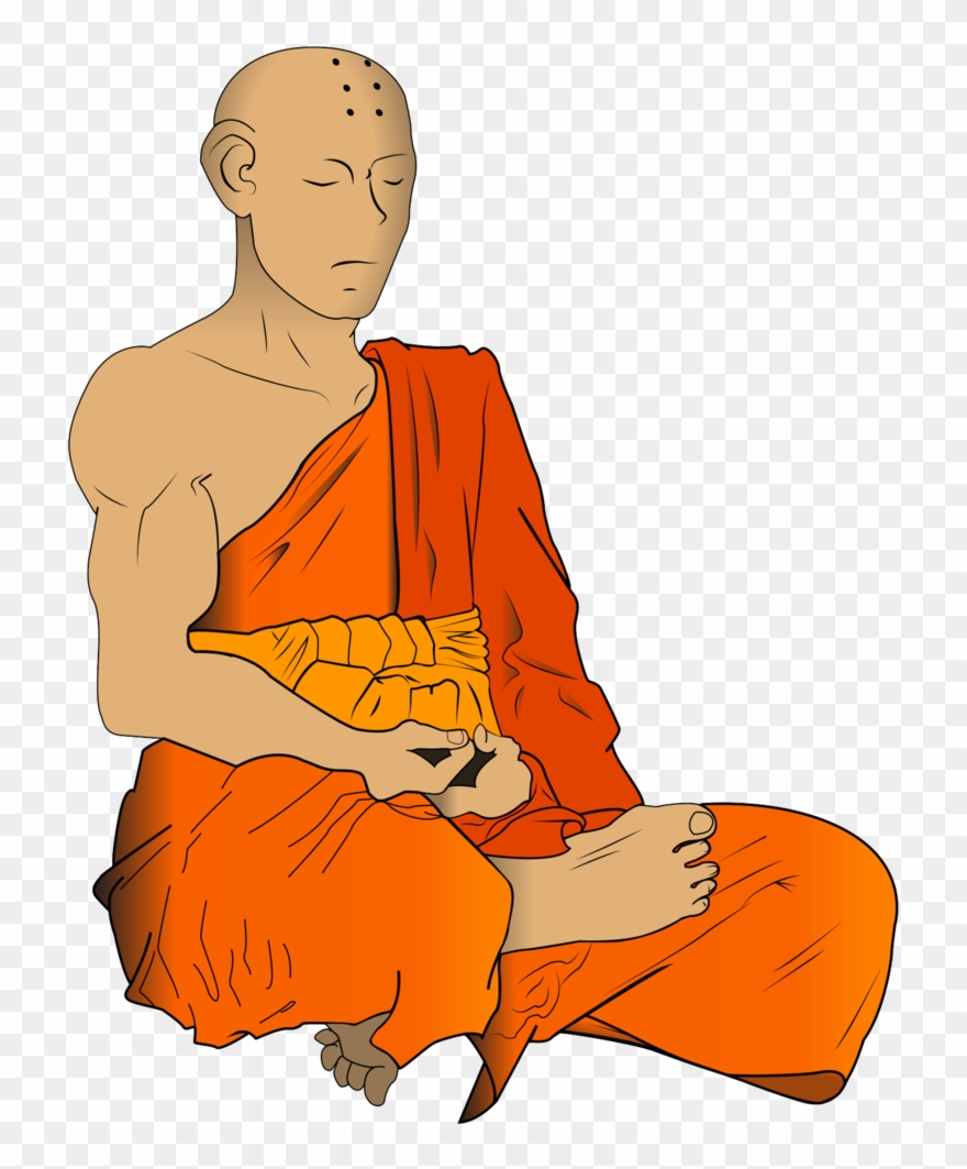 Monk clipart library Monk Clipart Meditating Buddha - Png Download (#2878693 ... library