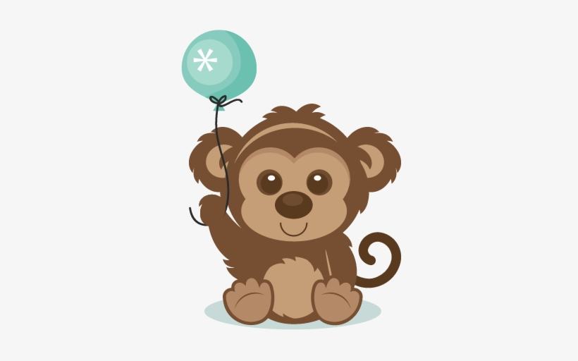Monkey clipart birthday svg freeuse download Year Of The Monkey Clipart Cute Monkey Pencil And In ... svg freeuse download