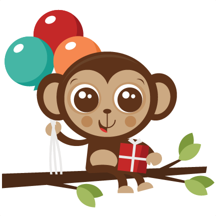 Monkey clipart birthday jpg royalty free Birthday Monkey SVG cut file birthday svg files birthday svg ... jpg royalty free