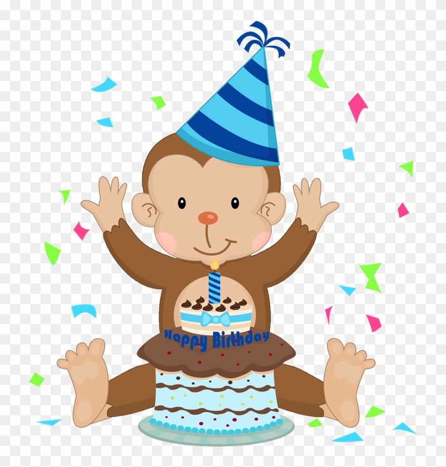 Monkey clipart birthday image stock Girls Clipart Monkey - Cartoon - Png Download (#1309213 ... image stock