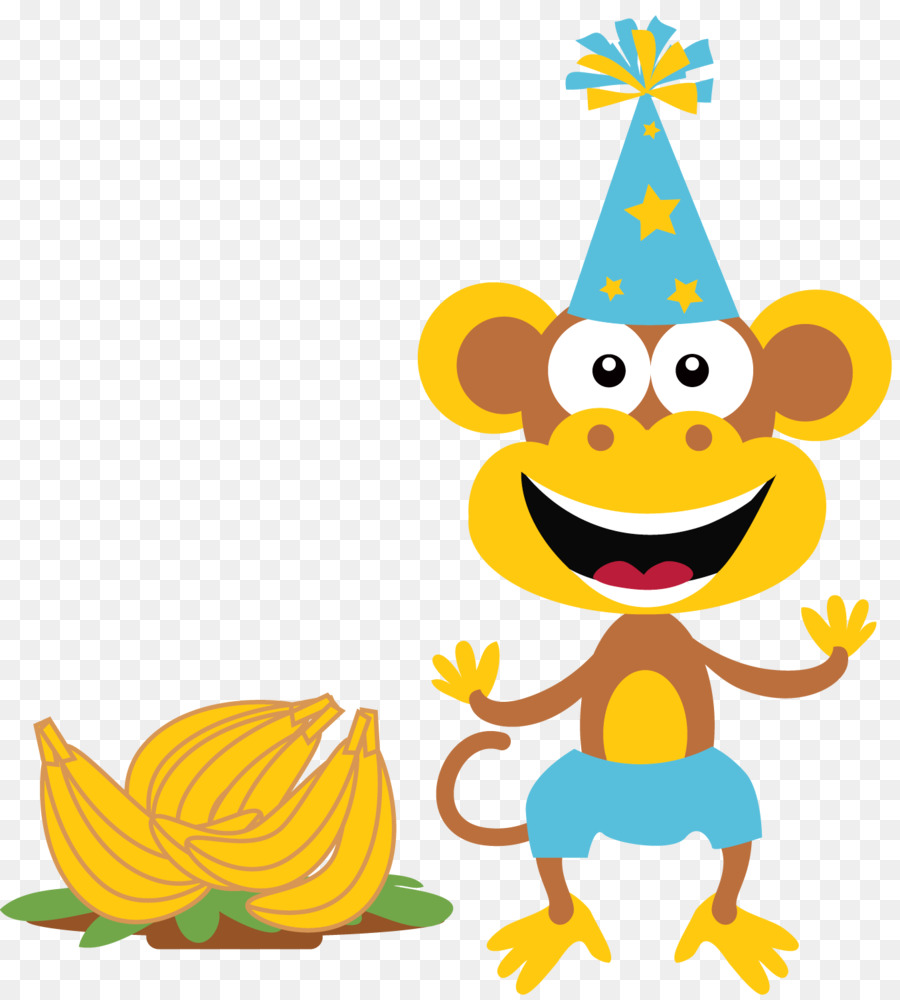 Monkey clipart birthday clipart transparent download Cartoon Party Hat clipart - Monkey, Party, Birthday ... clipart transparent download