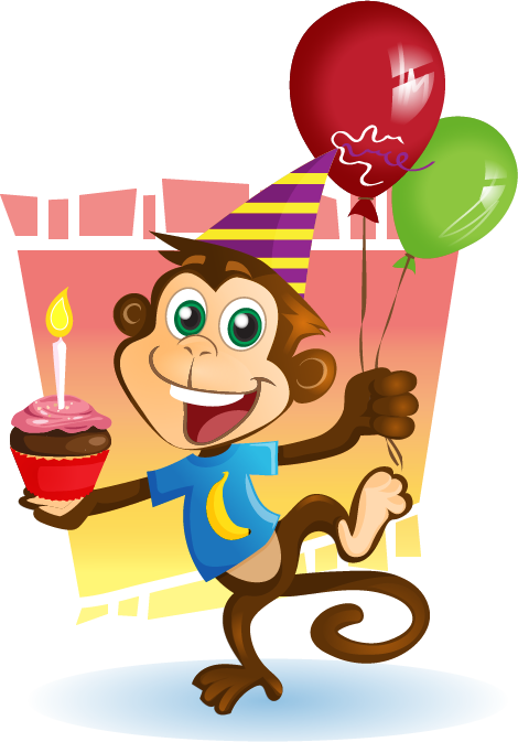 Monkey clipart birthday clipart library library Free Party Monkey Cliparts, Download Free Clip Art, Free ... clipart library library