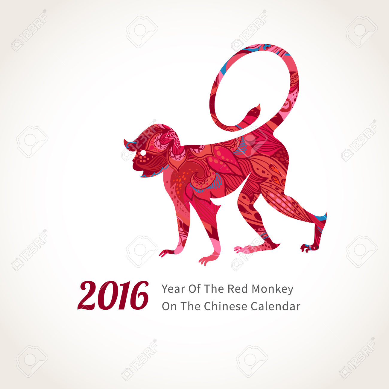 Monkey clipart icon new year