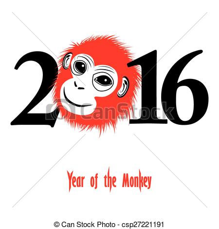 Monkey clipart icon new year jpg freeuse download EPS Vectors of Chinese new year 2016 (Monkey year) - The year of ... jpg freeuse download
