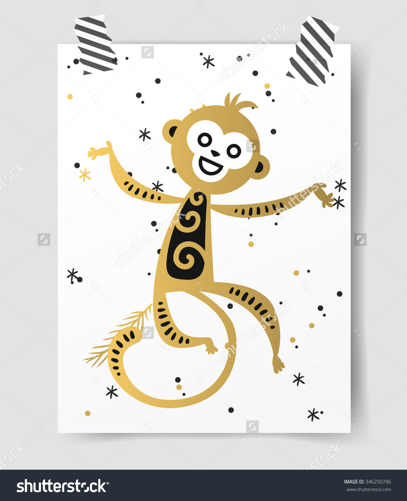 Monkey clipart icon new year banner free stock Chinese New Year Monkey Vector Decoration Ball Icon. 2016 New Year ... banner free stock