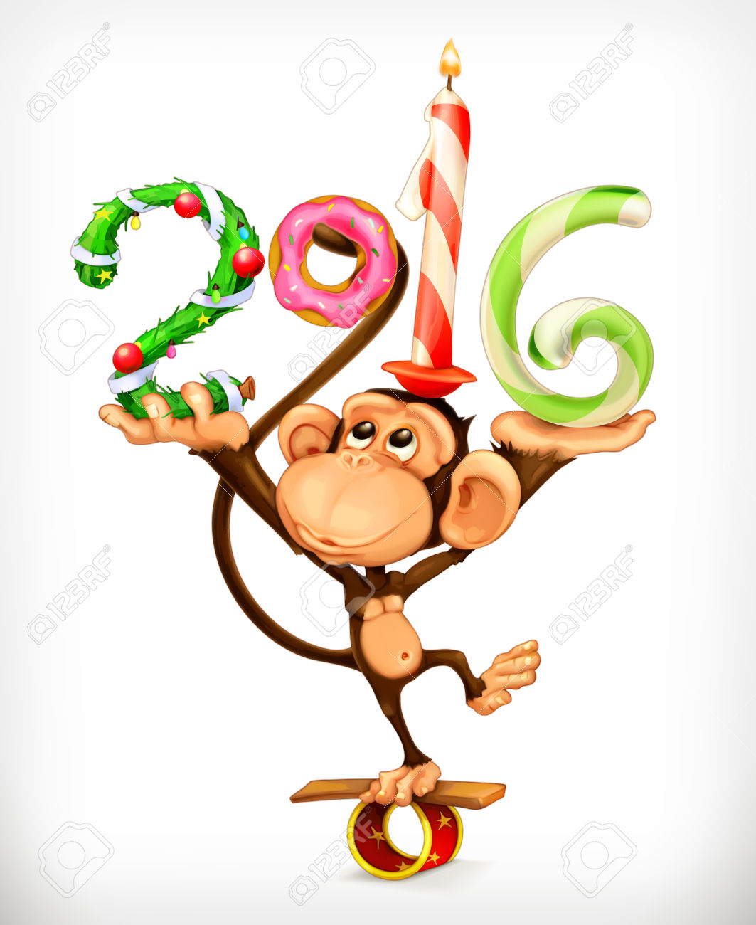 Monkey clipart icon new year clip art library download New Year, Monkey Vector Icon Royalty Free Cliparts, Vectors, And ... clip art library download