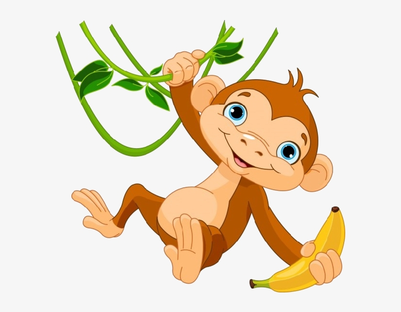 Monkey clipart png png free download Hanging Monkey Png Image Black And White Download - Monkey ... png free download