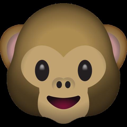 Monkey emoji clipart