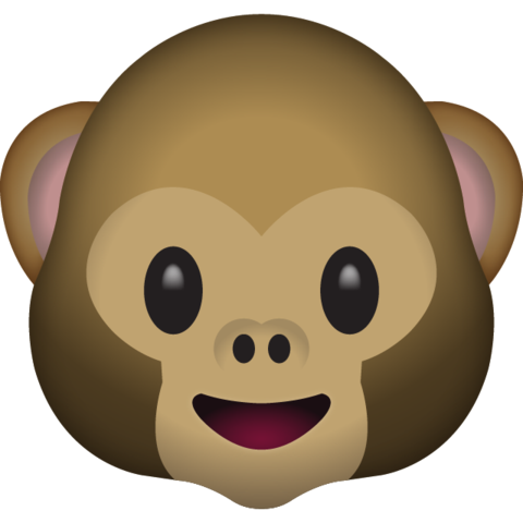 Monkey emoji clipart graphic free stock Monkey Face Emoji graphic free stock