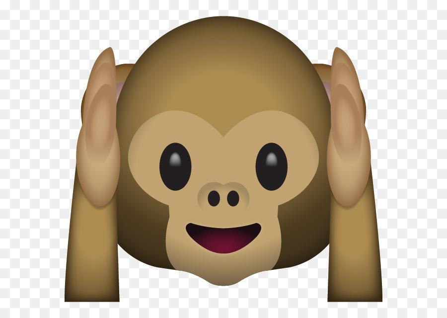 Monkey emoji clipart jpg black and white download Emoji Finger clipart - Emoji, Monkey, Emoticon, transparent ... jpg black and white download