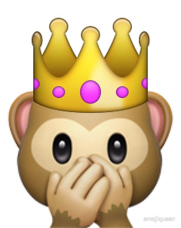 Monkey emoji clipart jpg freeuse download Princess Crown Monkey Emoji   Art Print jpg freeuse download
