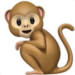 Monkey emoji clipart image black and white stock Monkey Emoji (U+1F412) image black and white stock