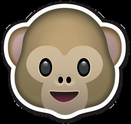 Monkey emoji clipart clip art free library Monkey Face   cuteee in 2019   Emoji stickers, Emoji clipart ... clip art free library