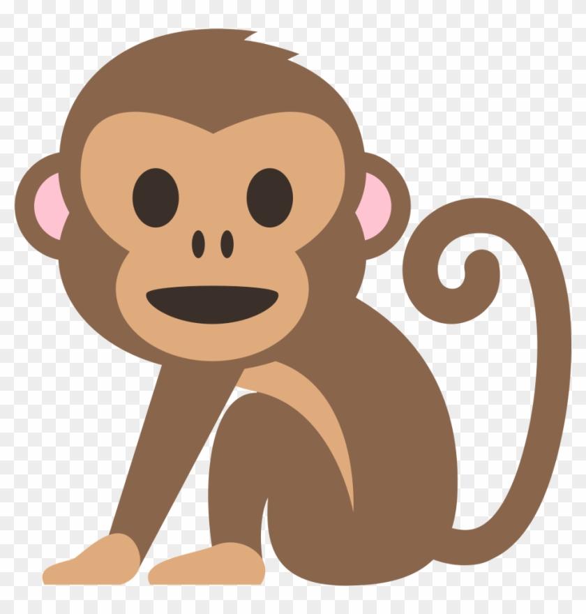 Monkey emoji clipart black and white library Emoji Mono - Monkey Emoji Svg, HD Png Download - 1000x1000 ... black and white library