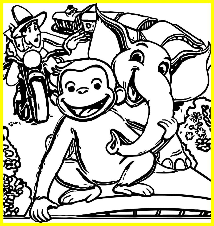 Monkey george of the jungle clipart black and white graphic free download George Of The Jungle Coloring Pages graphic free download