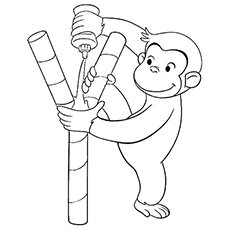 Monkey george of the jungle clipart black and white graphic library library George Of The Jungle Coloring Pages graphic library library