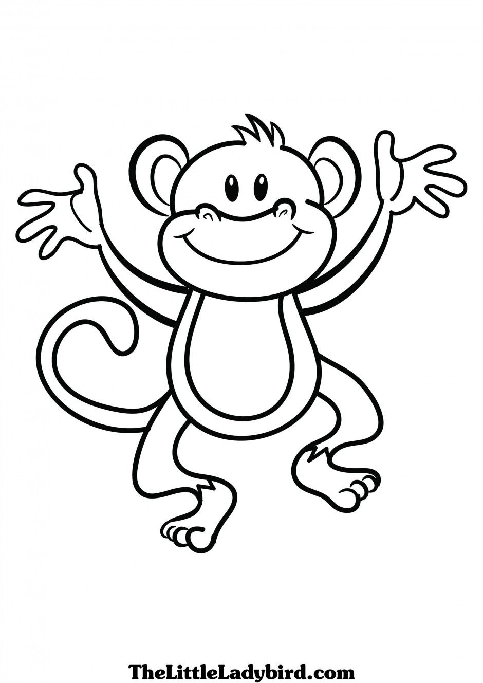 Monkey george of the jungle clipart black and white picture free Pin by Angie Lacks on Zoo Gifs   Monkey coloring pages ... picture free