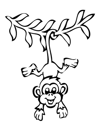 Monkey george of the jungle clipart black and white svg royalty free download Image result for how to draw monkeys swinging on a vine ... svg royalty free download