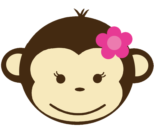 Monkey girl clipart graphic freeuse library girl monkey clip art | Babyface 128 Birthday Invitations ... graphic freeuse library