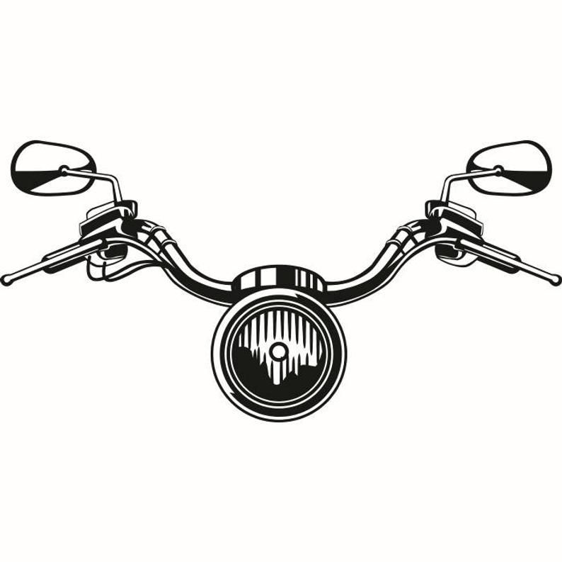 Monkey handlebars motorcycle clipart black and white clip transparent download Motorcycle Handle Bars #6 Light Bike Biker Chopper Part ... clip transparent download