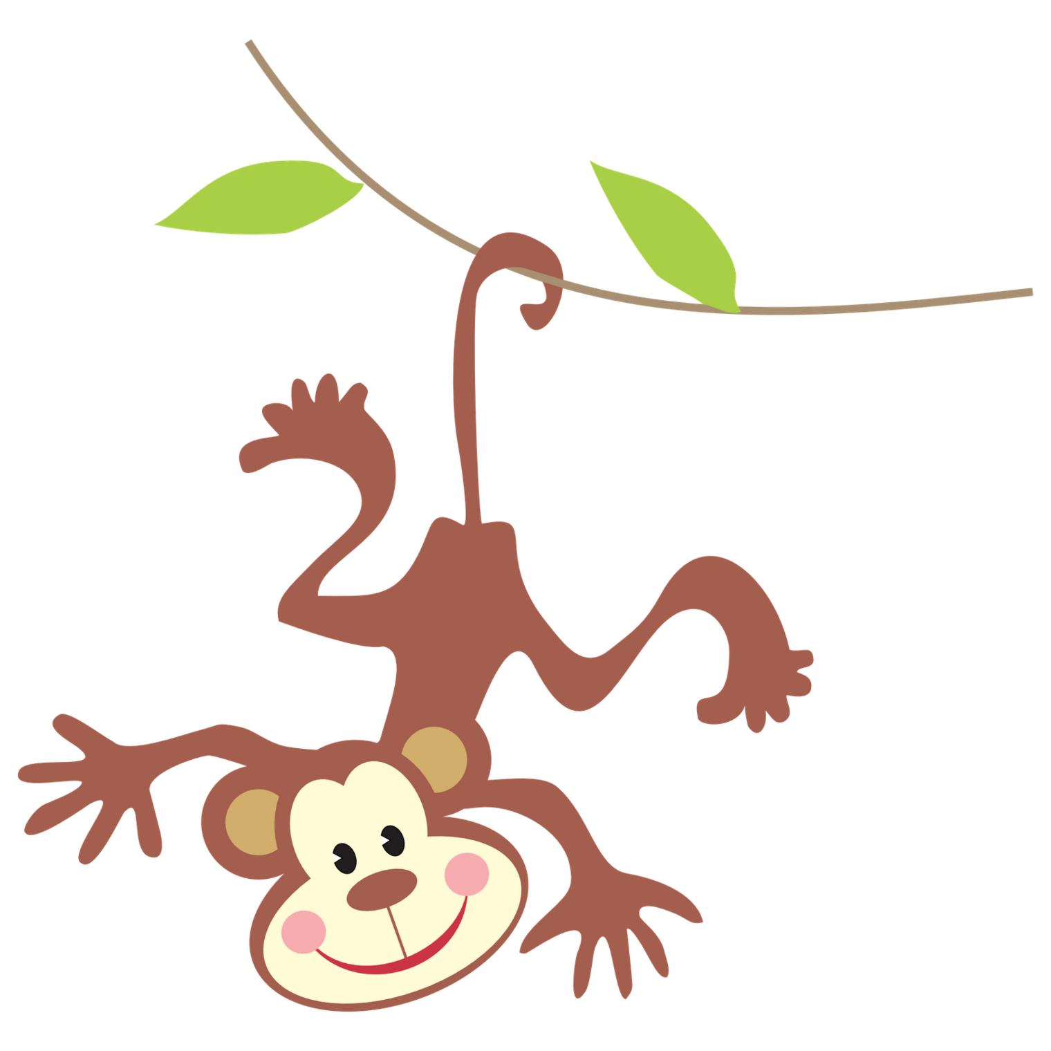 Monkey hanging from a tree clipart banner freeuse Hanging Monkey Clipart Image Group (67+) banner freeuse