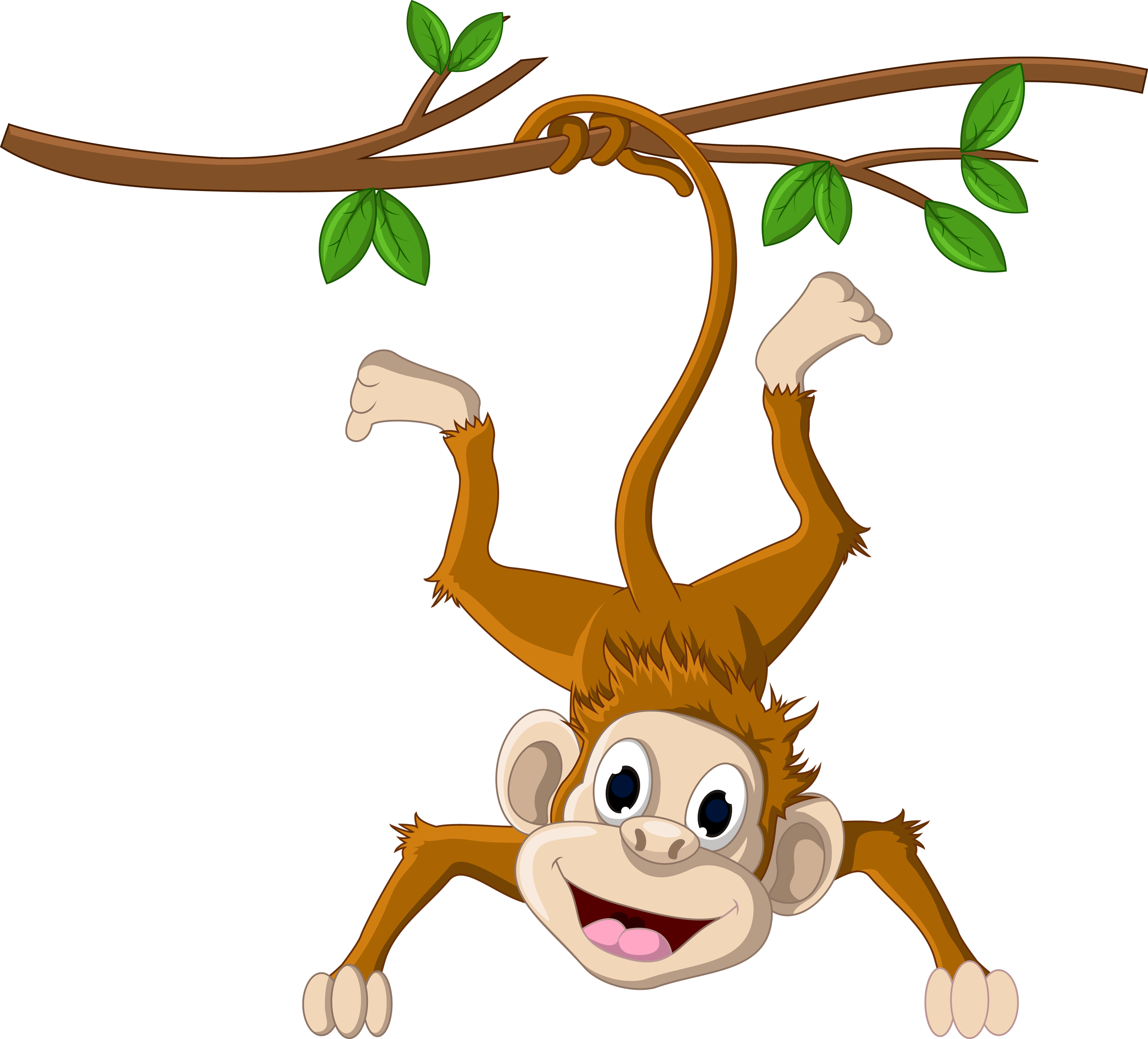 Monkey hanging from a tree clipart vector freeuse stock Monkey hanging from a tree 2500*2262 transprent Png Free Download ... vector freeuse stock