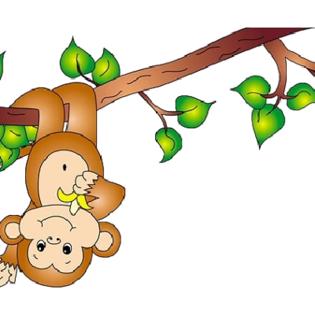 Monkey in tree clipart clip black and white library Cute Monkey Clipart cross clipart hatenylo.com clip black and white library
