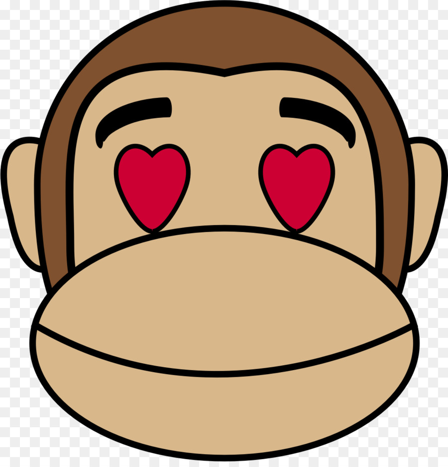 Monkey love clipart clipart library download Emoji Love clipart - Monkey, Love, Nose, transparent clip art clipart library download