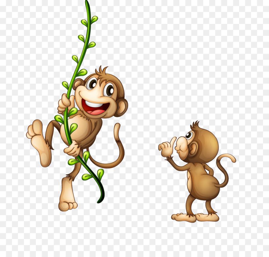 Monkey on vine clipart picture transparent download Monkey Cartoon png download - 1088*1020 - Free Transparent ... picture transparent download