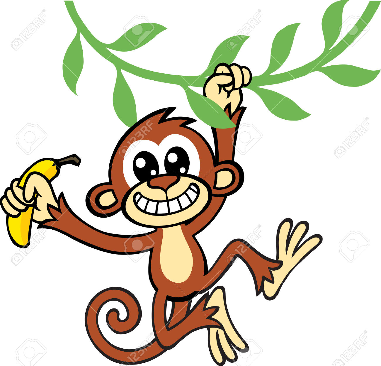 Monkey on vine clipart image royalty free download Free Monkey Clipart | Free download best Free Monkey Clipart ... image royalty free download