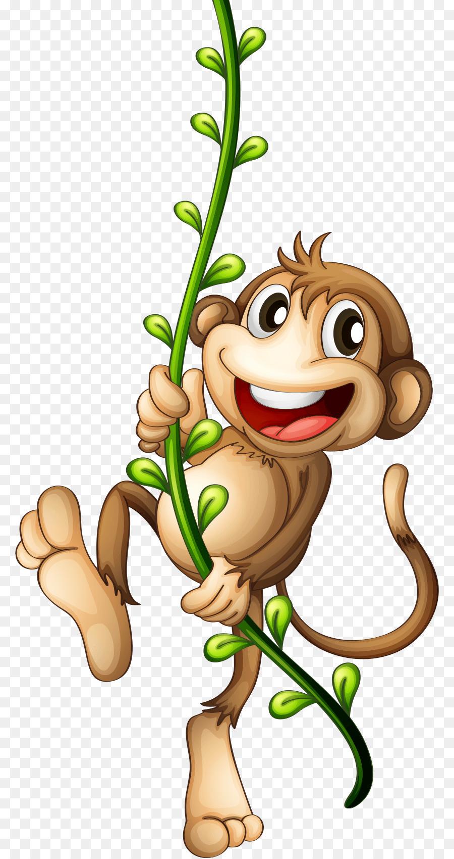 Monkey on vine clipart svg free Monkey Cartoon png download - 840*1698 - Free Transparent ... svg free
