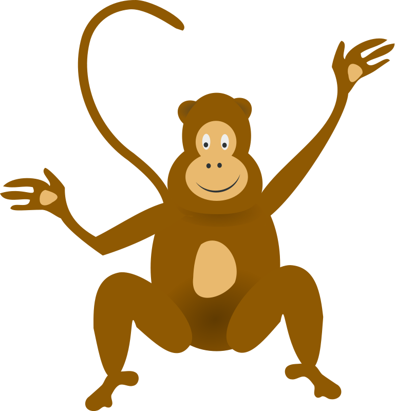 Monkey swinging in a tree clipart clip art transparent Monkey Animal Clipart Pictures Royalty Free | Clipart Pictures Org clip art transparent