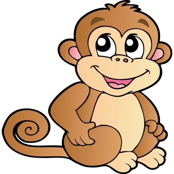 Monkey swinging in a tree clipart image transparent Funny Baby Monkeys Cartoon Clip Art Images On A Transparent ... image transparent