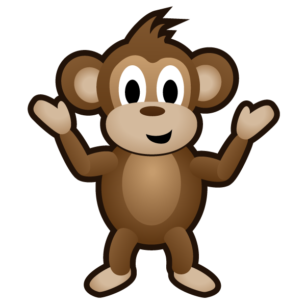 Monkey swinging in a tree clipart clipart free download Monkey - Game Art Guppy clipart free download