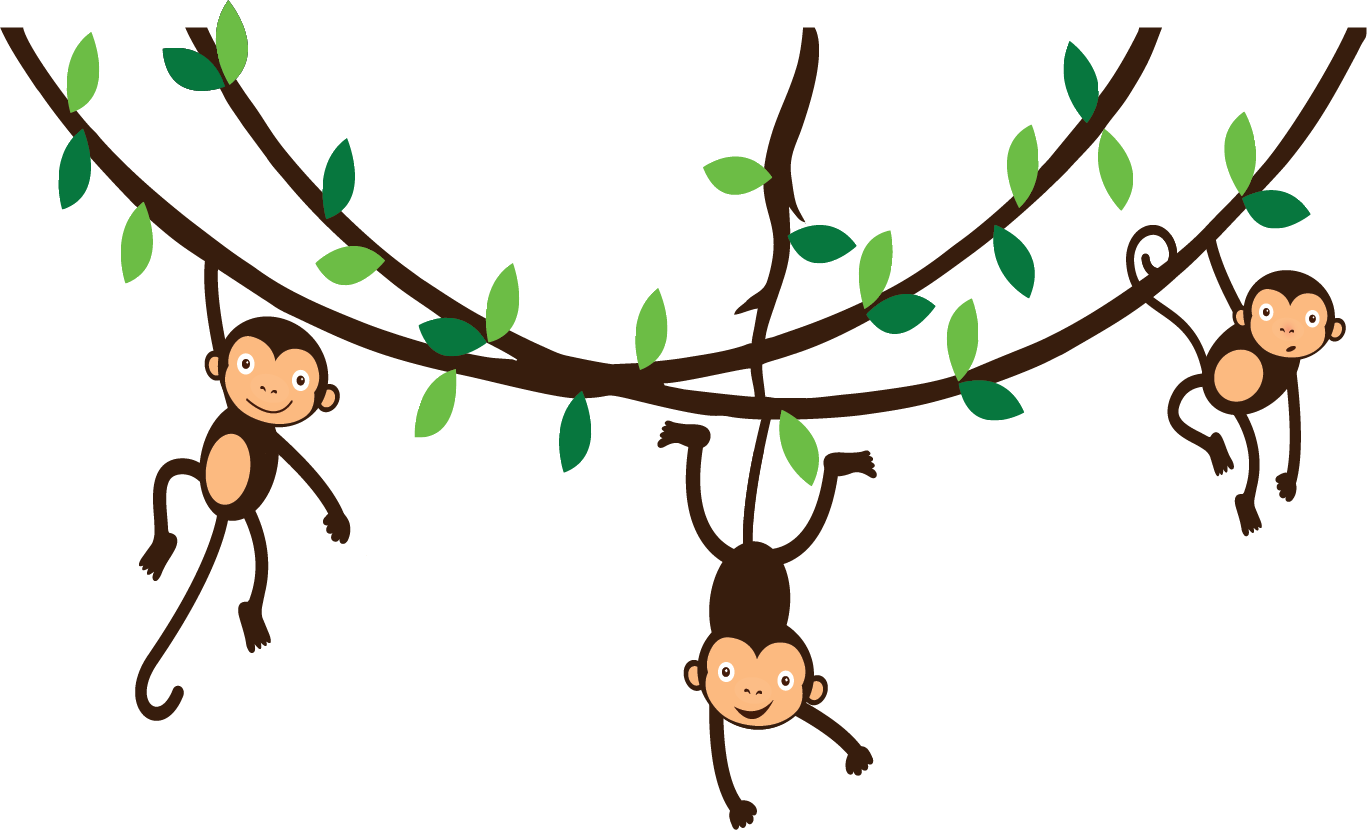 Monkey tree clipart graphic freeuse 28+ Collection of Clipart Monkey Hanging From Tree | High quality ... graphic freeuse