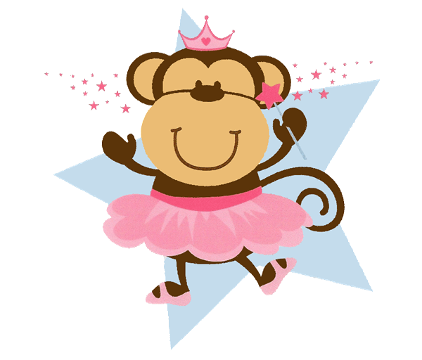 Monkey with a crown clipart freeuse stock Birthday Invitations ALL COLORS TONS OF PATTERNS with CLIPART freeuse stock