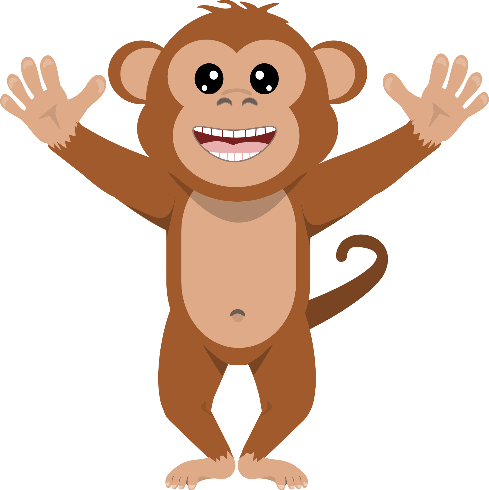 Monkey with a crown clipart clipart black and white stock Clipart math monkey - Graphics - Illustrations - Free Download on ... clipart black and white stock