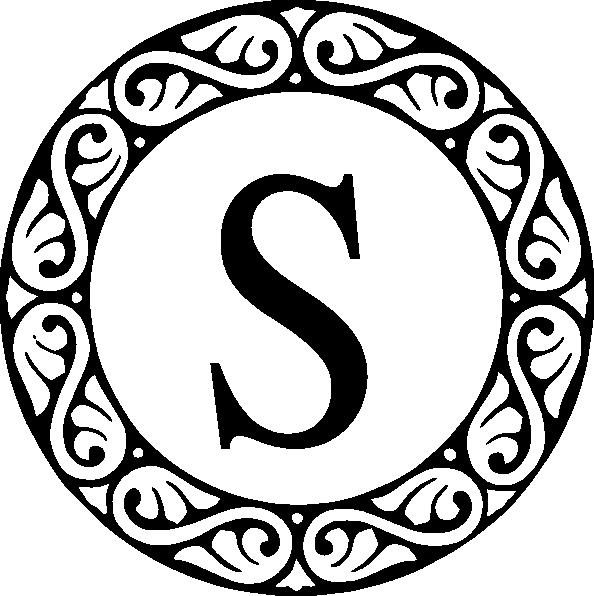 S monogram clipart black and white clip art black and white library Letter S Monogram Clip Art at Clker.com - vector clip art online ... clip art black and white library