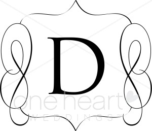 Monogram d clipart picture freeuse stock Classic Monogram D | Wedding Monograms picture freeuse stock