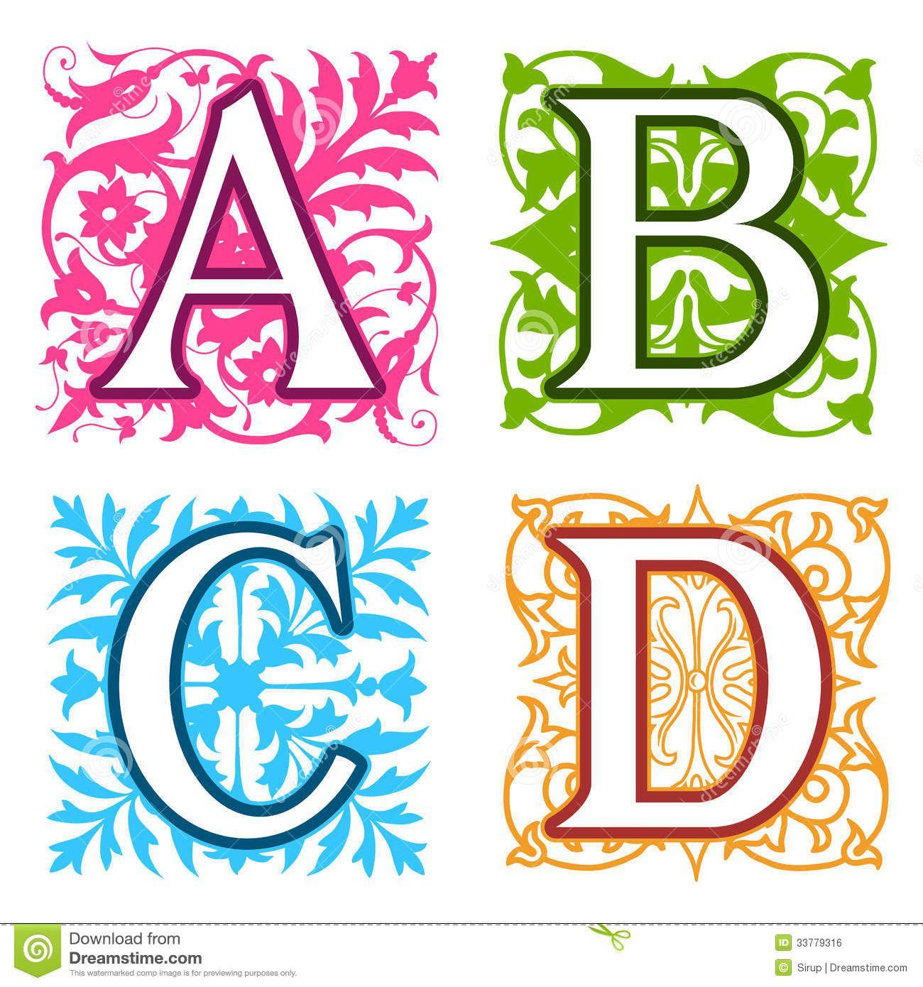 Monogram letter c b together free clipart jpg transparent download A, B, C, D, Alphabet Letters Floral Elements Royalty Free Stock ... jpg transparent download