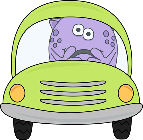 Monster driving car of car clipart banner freeuse stock Monster Driving a Car Clip Art - Monster Driving a Car Image banner freeuse stock